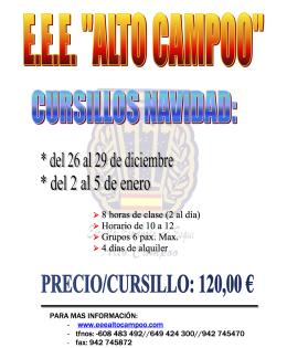 CURSILLOS NAVIDAD 17/18